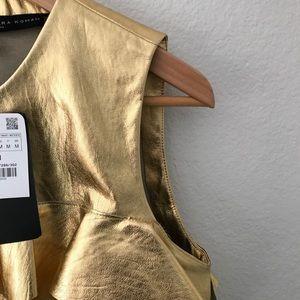 c5dbcf1f4693dc Zara Tops - BNWT Zara Women Gold Ruffled Crop Top Size M